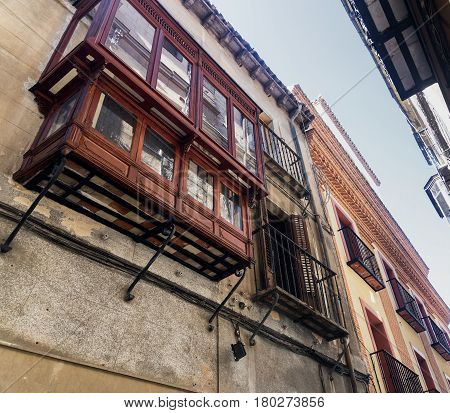 Toledo (Castilla-La Mancha Spain): old typical street in the historic city