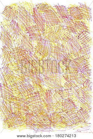Purple and Yellow Cross Hatching Abstract Background