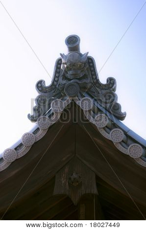 Japanese Temple Roof Detail