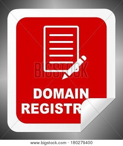 Domain Registration Indicates Sign Up 3D Illustration