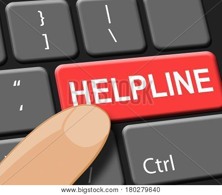 Helpline Key Shows Faq Advice 3D Illustration