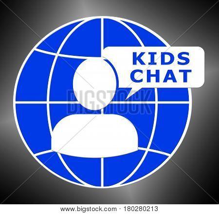 Kids Chat Shows Child Messenger 3D Illustration
