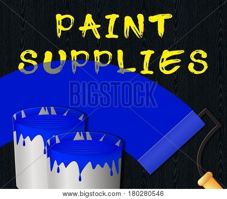 Paint Supplies Displays Painting Product 3D Illustration