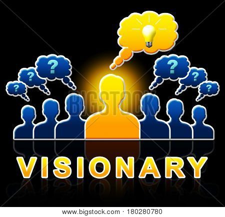 Visionary People Represents Strategist And Ideals 3D Illustration