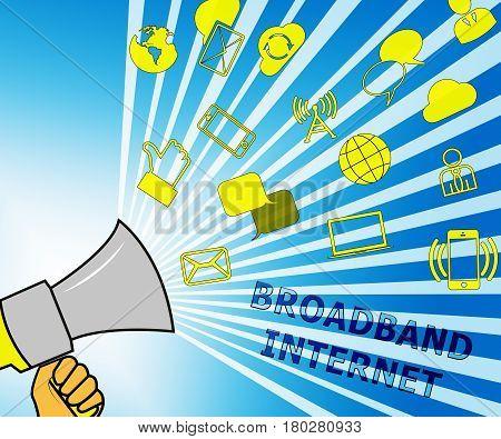 Broadband  Internet Representing Fast Speed 3D Illustration