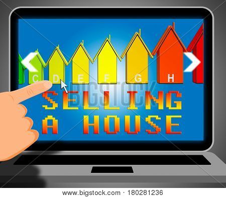 Selling A House Representing Sell Property 3D Illustration