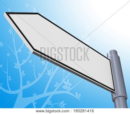 Blank Road Sign Representing Copyspace Message 3D Illustration