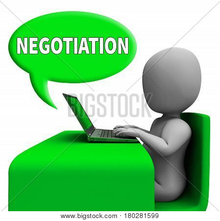 Negotiation Communication Means Negotiate Online 3D Rendering