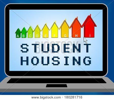 Student Housing Representing University House 3D Illustration
