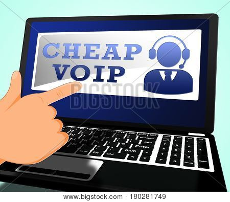 Cheap Voip Shows Internet Voice 3D Illustration