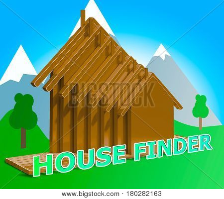 House Finder Means Finders Home And Found