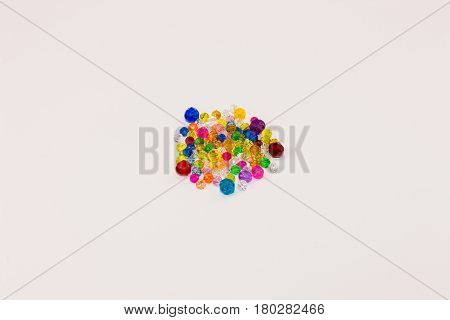 loose beads of various colors and sizes