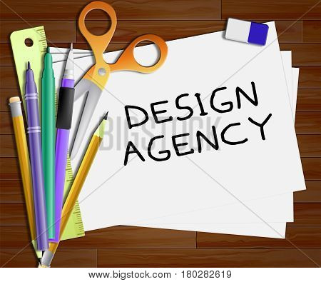 Design Agency Means Creative Artwork 3D Illustration