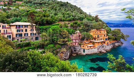 Scenic Ligurian coast of Italy - beautiful luxury Portofino.