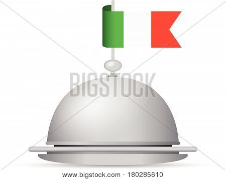 a red green and white italian flag platter