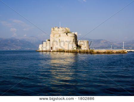 Bourtzi Fortress In Nafplio Greece