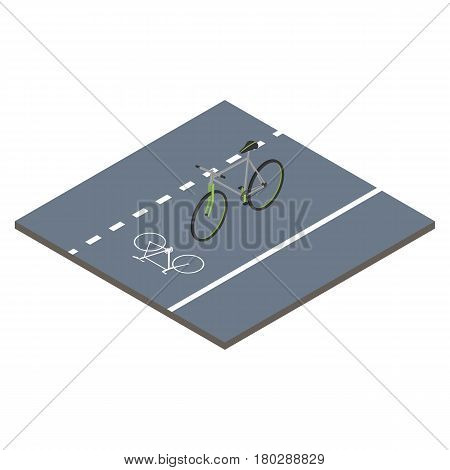Isometric icon bicycle. Sustainable transport. Vector illustration