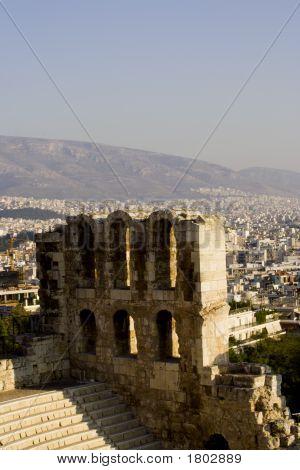Herodes Atticus Theatre In Athens