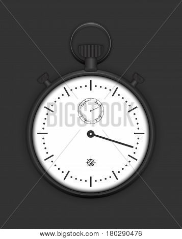 Classic Analog Stopwatch detailed vector eps 10