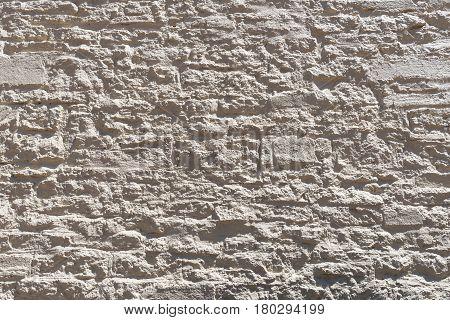 rough uneven gray stone wall Williams Arizona