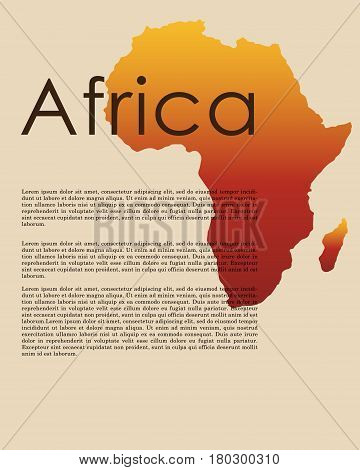 Vector Africa Map Abstract Map Vector Photo Bigstock
