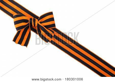 St. George's ribbon isolated Memory symbol of Great Victory of May 9