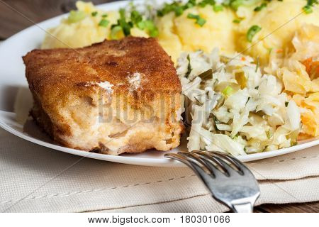 Fried Fish Fillet Of Cod.