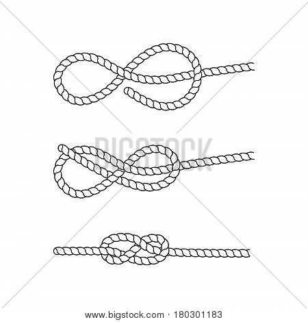 How tie sea knot vector photo free trial bigstock how to tie a sea knot example nautical rope knots marine rope ccuart Image collections