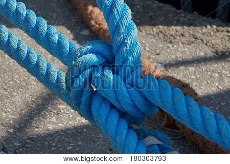 Landing Ropes At The Dock
