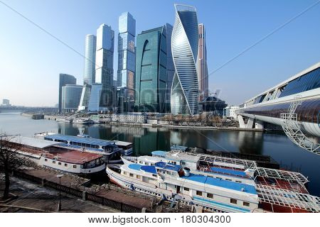 View of skyscrapers Moscow International Business Center.