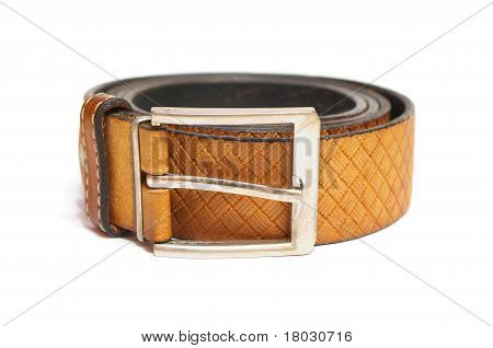 Leather waistband