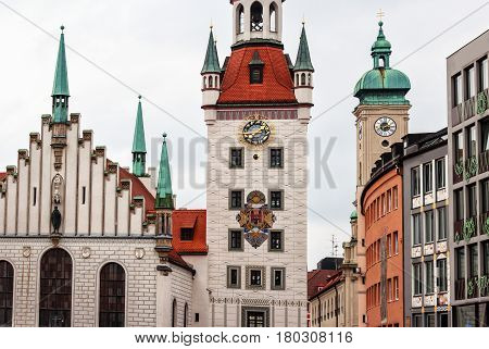 Old Town Hall at the Marienplatz in Munich, Germany