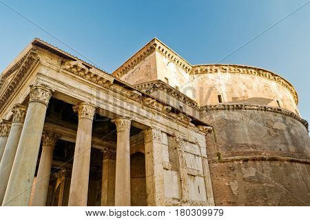 The famous ancient Pantheon in Rome, Italy