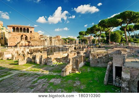 The forum of Trajan in Rome, Italy