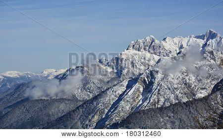 The view from Monte Lussari Friuli Venezia Giulia north east Italy poster