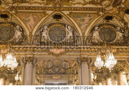 Ballroom Of The Orsay Museum, Paris, France