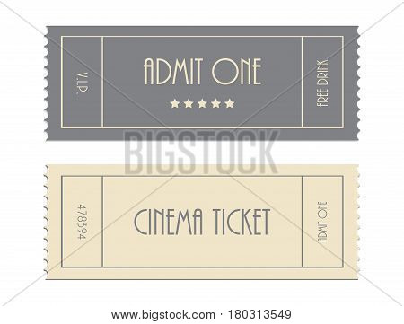 Special Vector Ticket Template, Admit One, Cinema Ticket