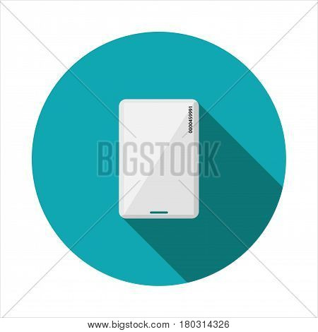 Vector image proximity card on a round basis