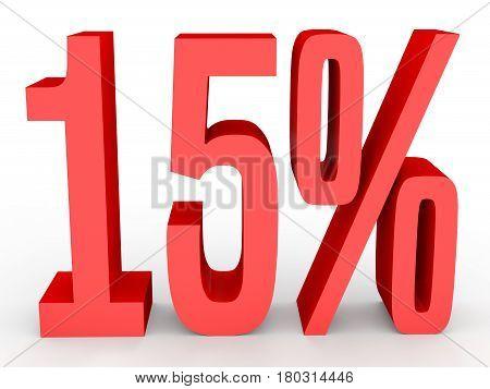 Fifteen Percent Off. Discount 15 %.