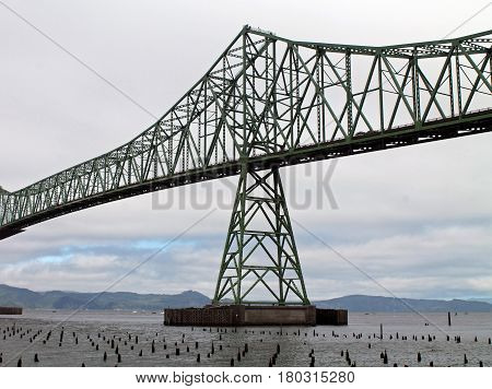 Astoria-Megler Bridge Spanning the Columbia River, Astoria Oregon