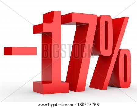 Minus Seventeen Percent. Discount 17 %.
