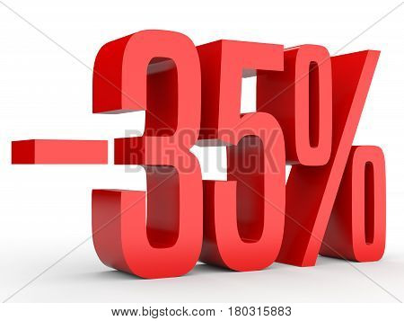 Minus Thirty Five Percent. Discount 35 %.