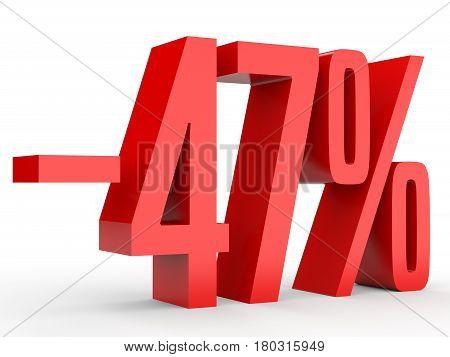 Minus Forty Seven Percent. Discount 47 %.
