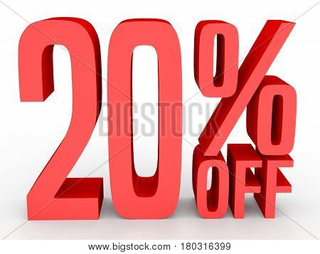 Twenty Percent Off. Discount 20 %.