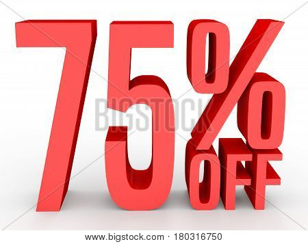 Seventy Five Percent Off. Discount 75 %.