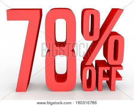 Seventy Eight Percent Off. Discount 78 %.