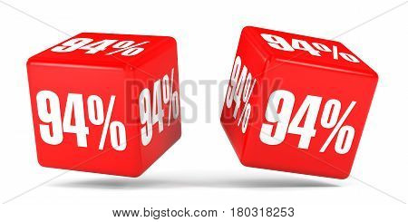 Ninety Four Percent Off. Discount 94 %. Red Cubes.