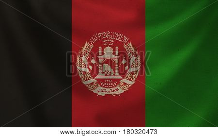 Vintage background with flag of Afghanistan. Grunge style.
