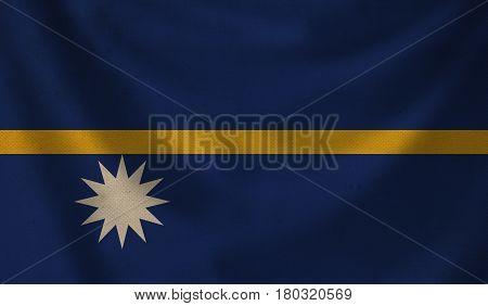 Vintage background with flag of Nauru. Grunge style.