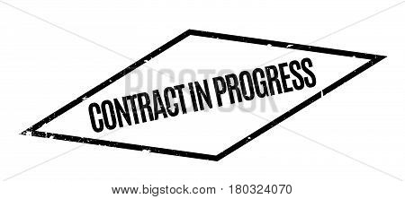 Contract In Progress rubber stamp. Grunge design with dust scratches. Effects can be easily removed for a clean, crisp look. Color is easily changed.